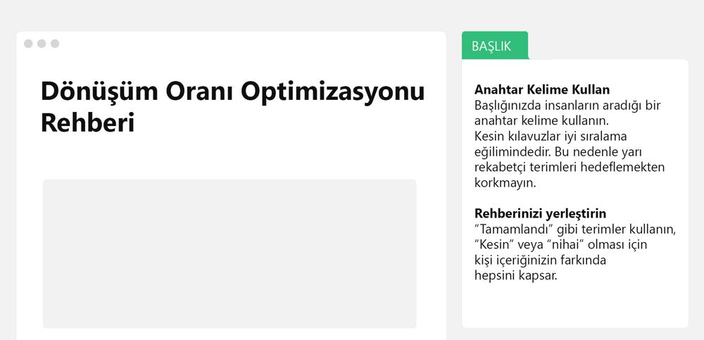blog yazmak dönüşüm oranı optimizasyonu 1