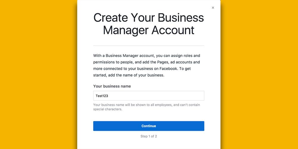 Sosyal Medya Pazarlama Nedir? Adım Adım Kılavuz : Facebook Business Manager işletme adı