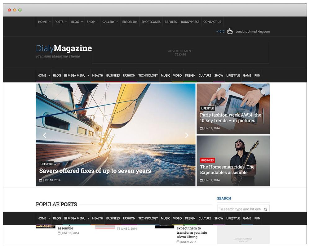WordPress Temaları - DialyMagazine