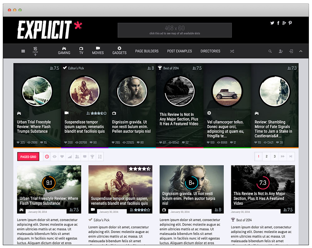 WordPress Temaları - Explicit