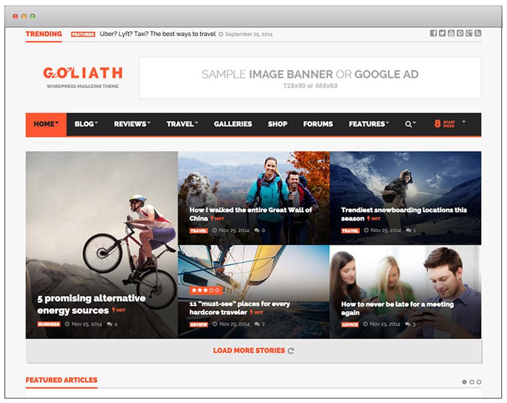 WordPress Temaları - Goliath