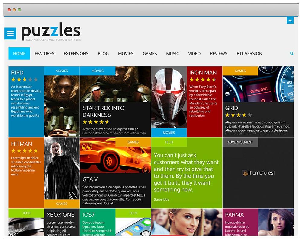 WordPress Temaları - Puzzles