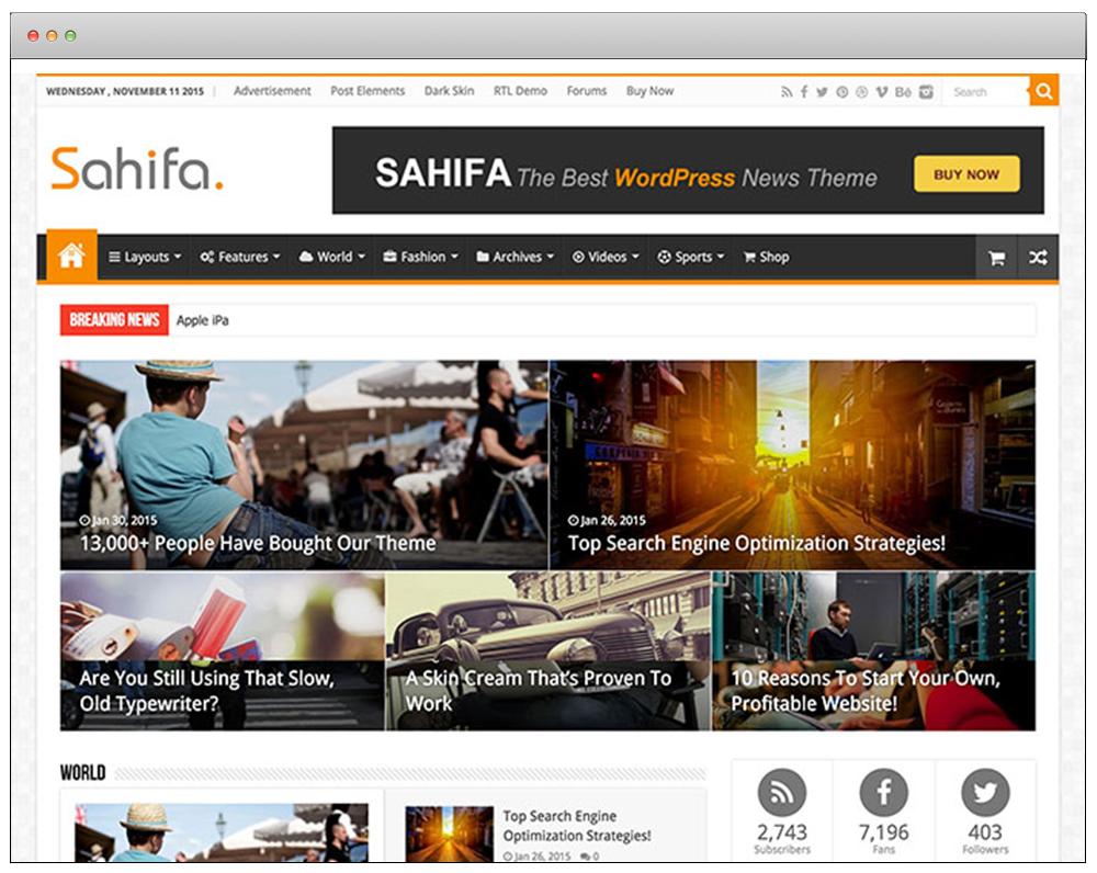 WordPress Temaları - Safiha