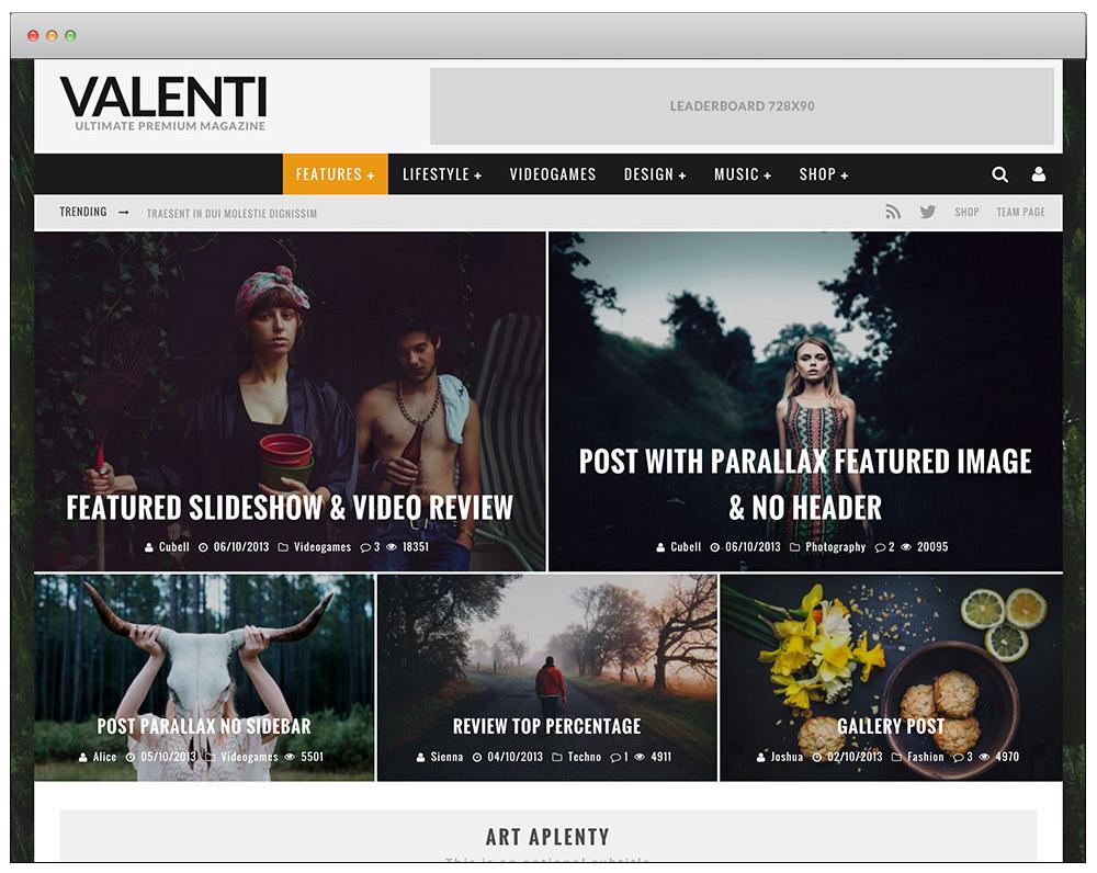WordPress Temaları - Valenti
