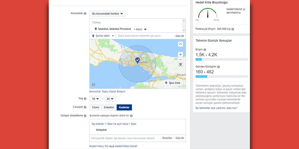 facebook reklam hedeflemesi