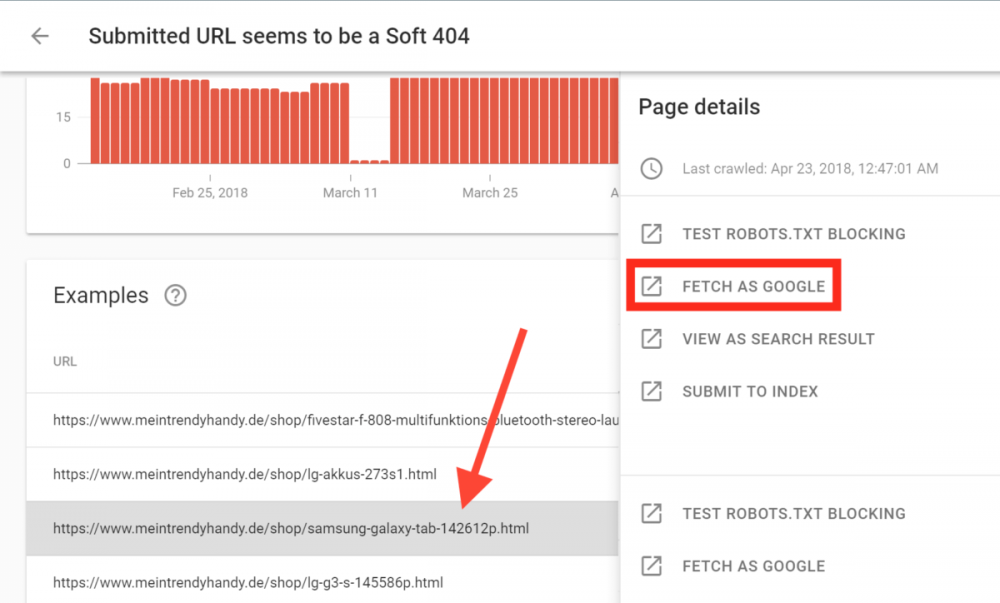 google search console fetch as google