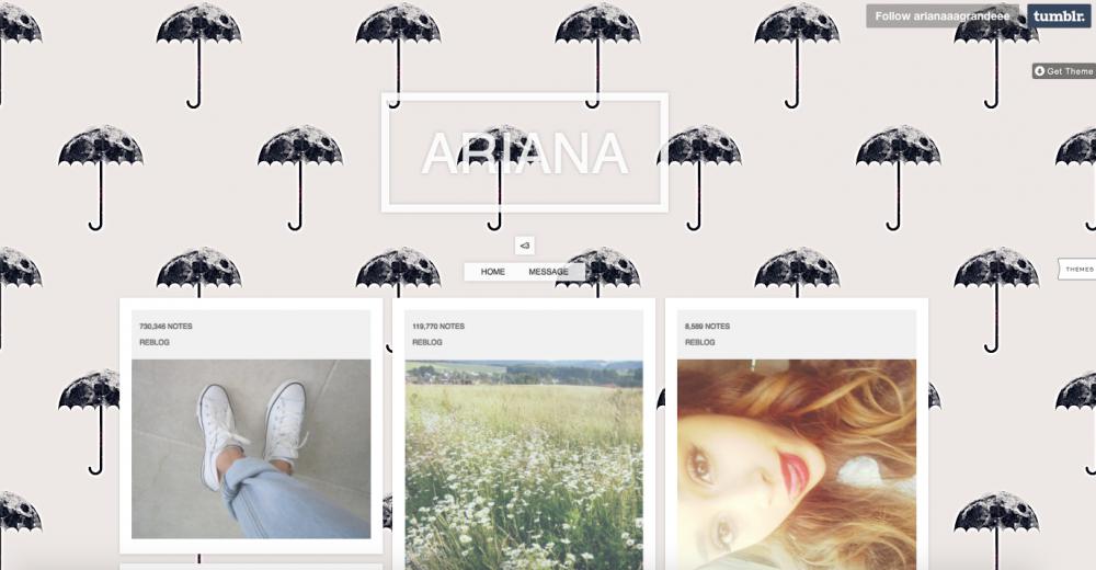 Sosyal Medya Pazarlama Nedir? Adım Adım Kılavuz : Tumblr Ariana Grande