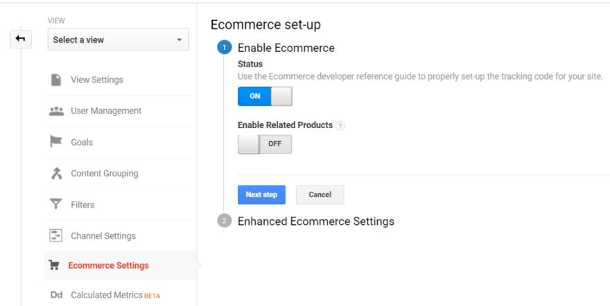 google analitik E-Ticaret Ayarları