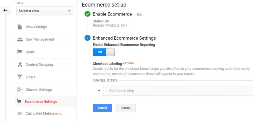 google analitik Geliştirilmiş E-Ticaret Ayarları