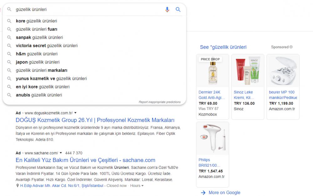 Google Arama Önerileri