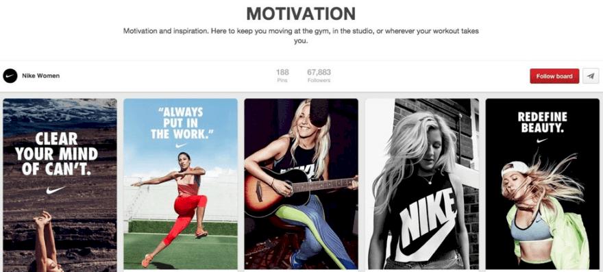 Motivation' Pinterest panosu
