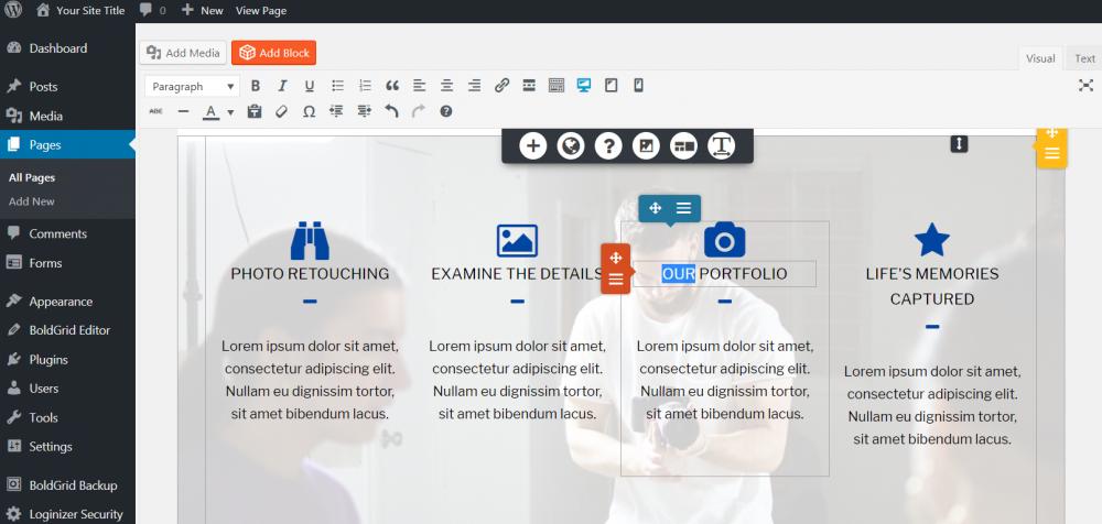 en iyi web site kurulum platformu karsilastirmali BoldGrid page builder