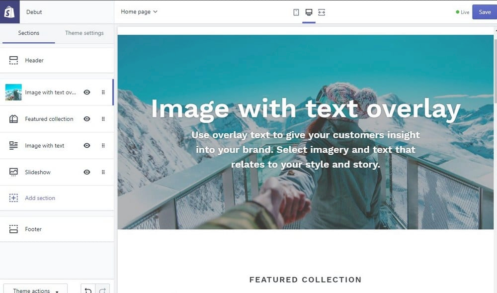 shopify how to edit theme