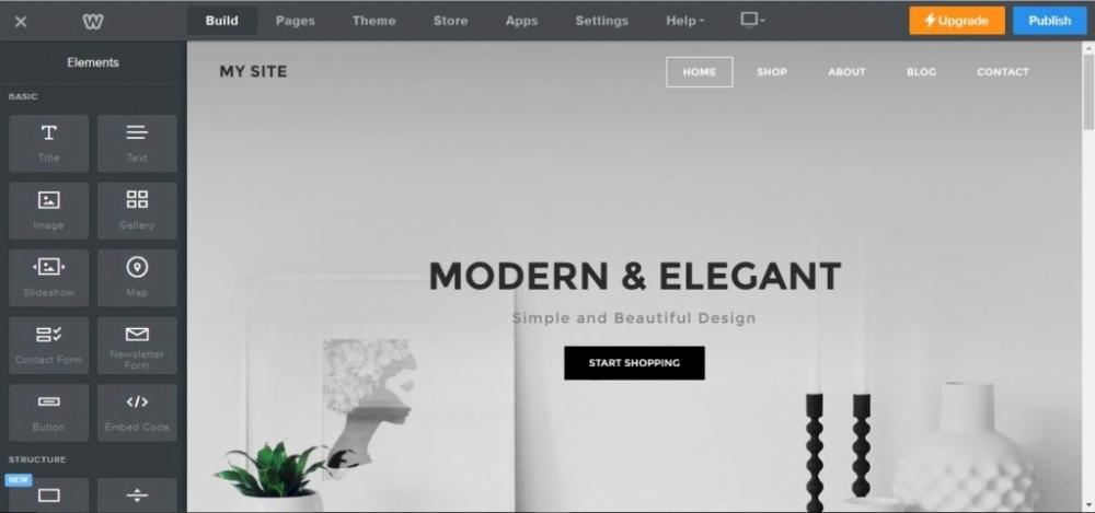 en iyi web site kurulum platformu karsilastirmali Weebly editor