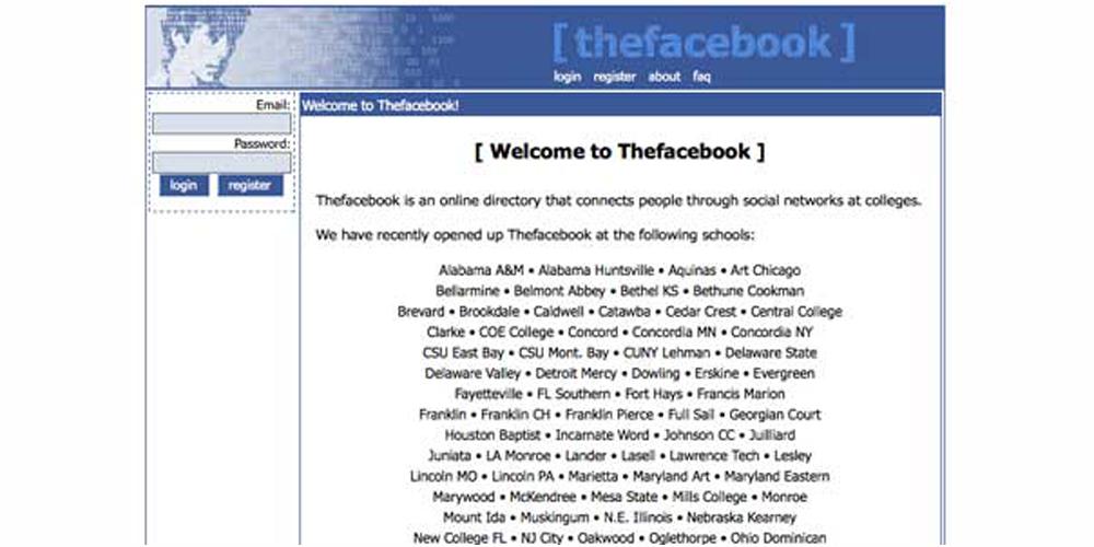 facebook ilk yılları
