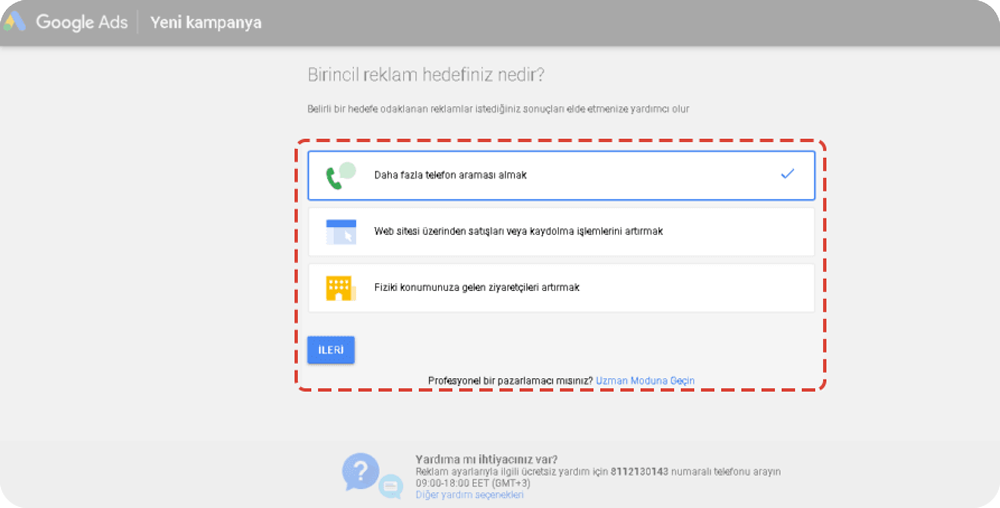 google ads hedef seçme