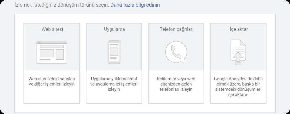 google ads conversion tracking kurulum