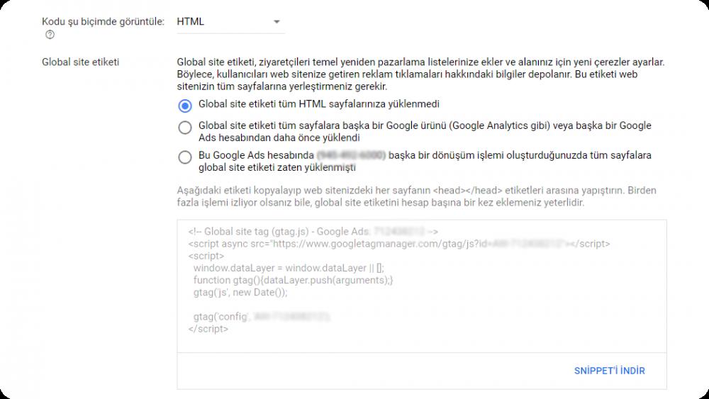 google ads dönüşüm izleme Kendi kendine kur