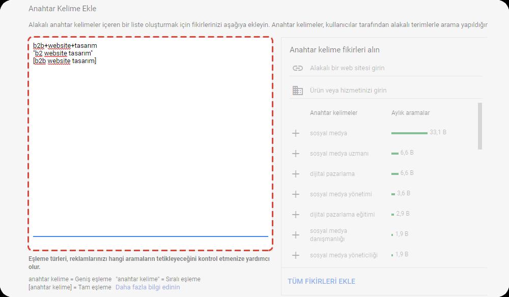google ads Tek anahtar kelimeli reklam grubunun (TAKRG)