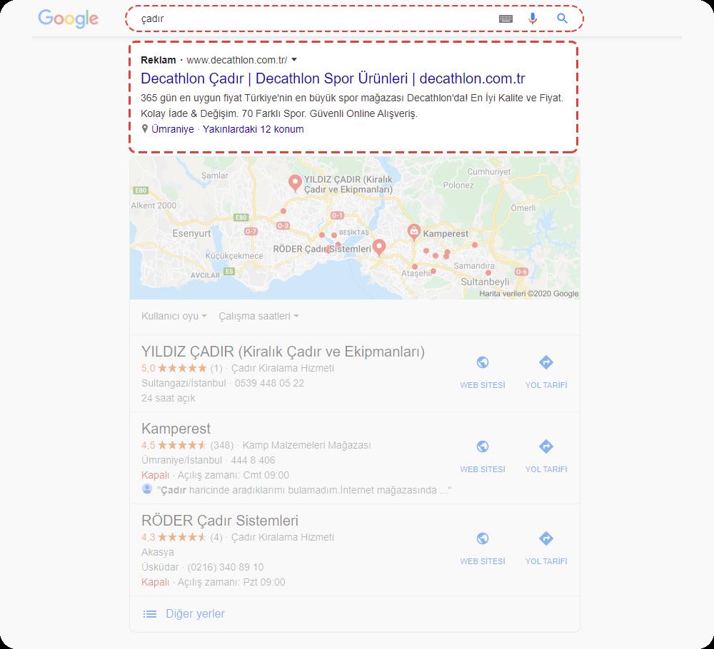 google ads metin reklamları