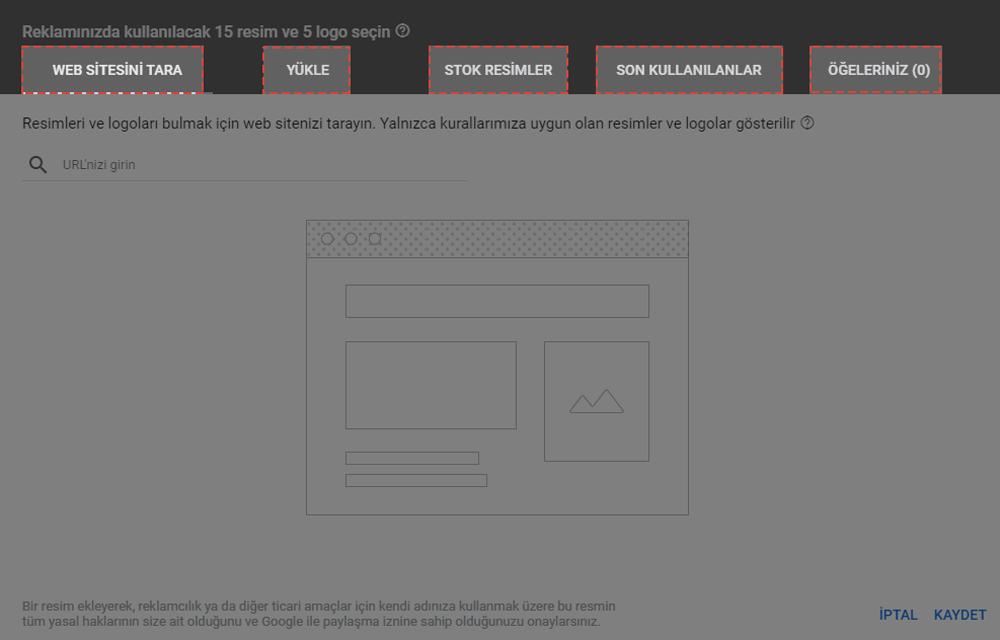 google remarketing resimler ve logolar