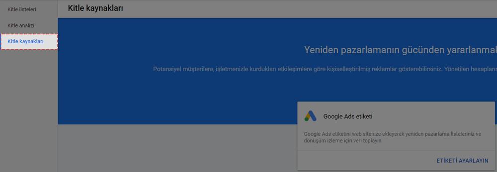 Google remarketing kitle kaynakları