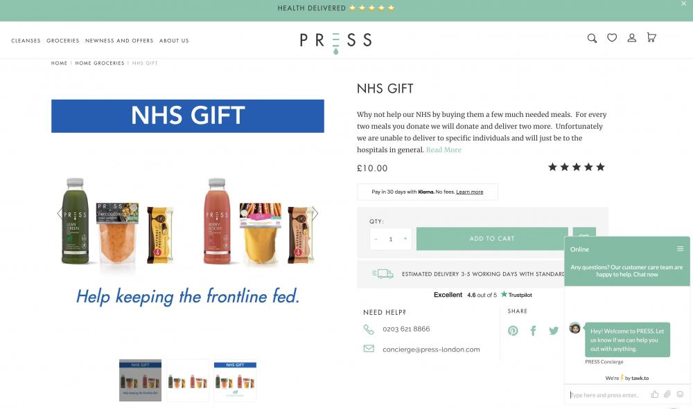 press london ürün sayfası