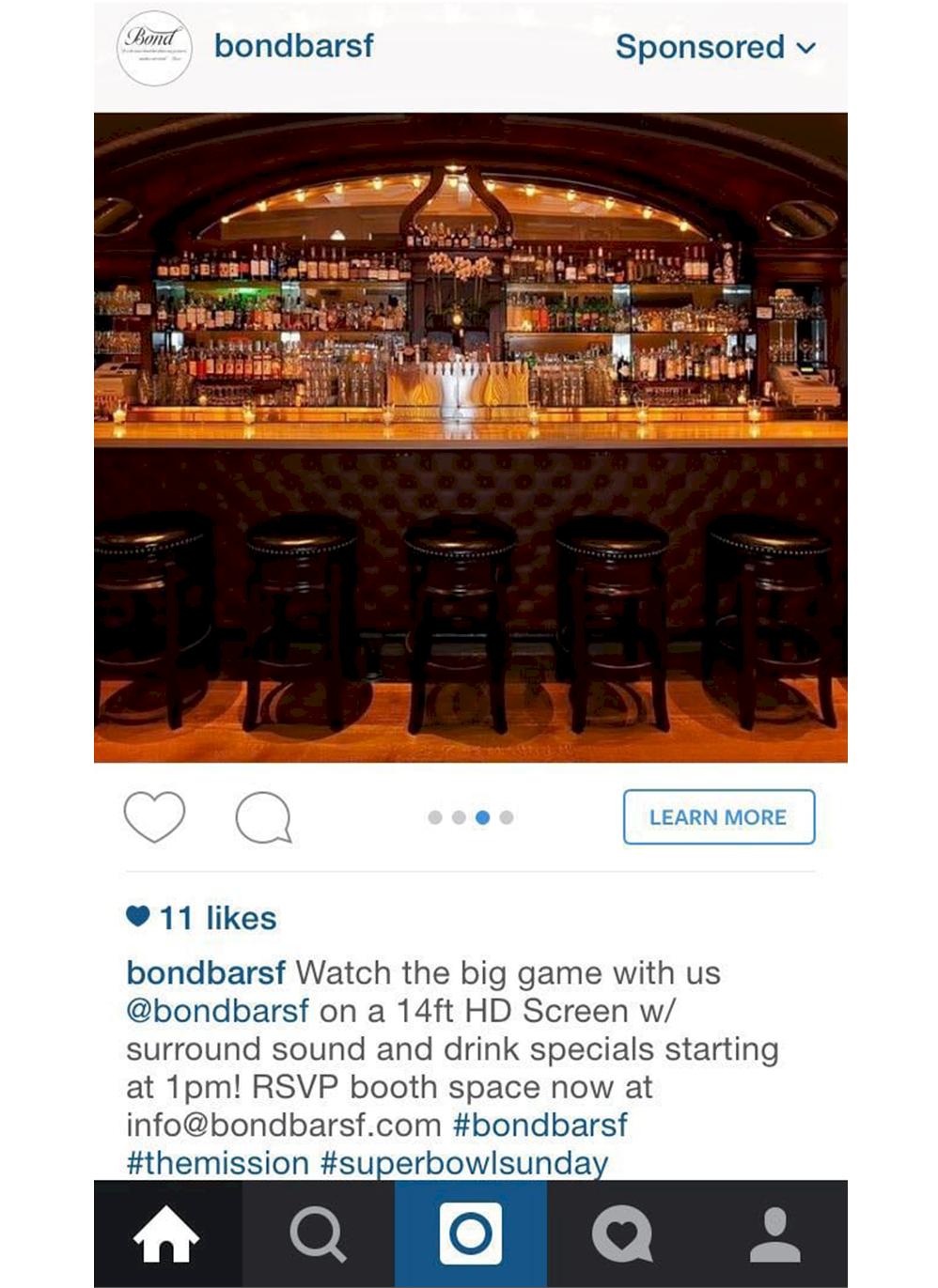 instagram reklam örneği