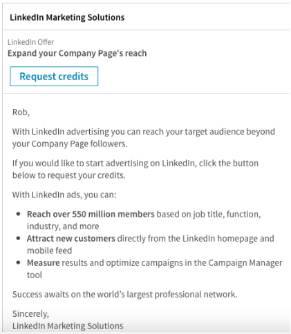 Sponsorlu InMail Reklamlar