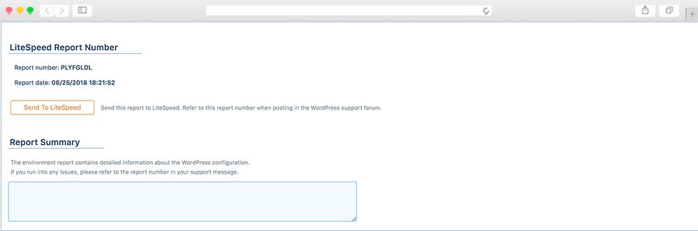 LiteSpeed Cache WordPress Raporları