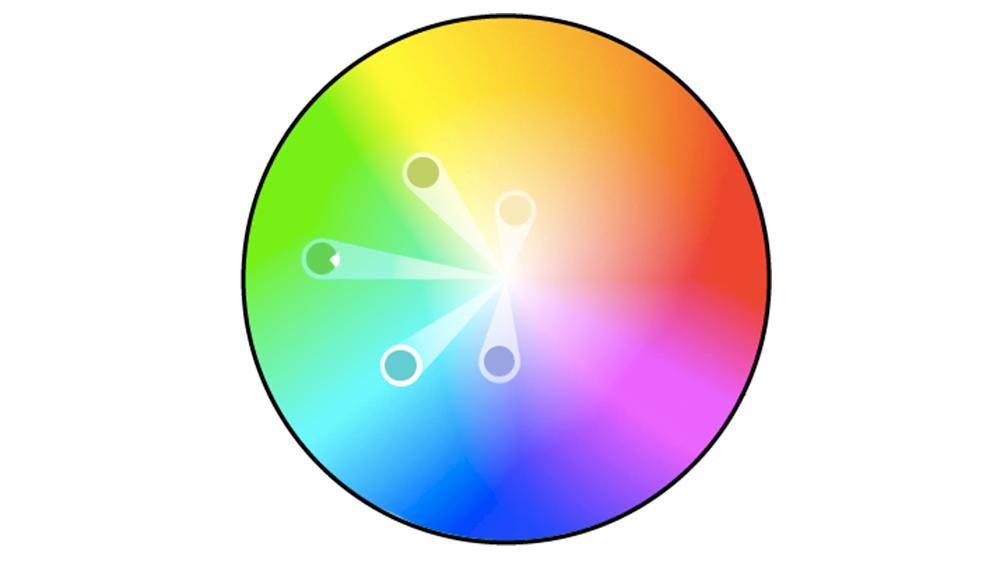 Benzer renkleri tanımlamak için bir renk tekerine başvurun.
