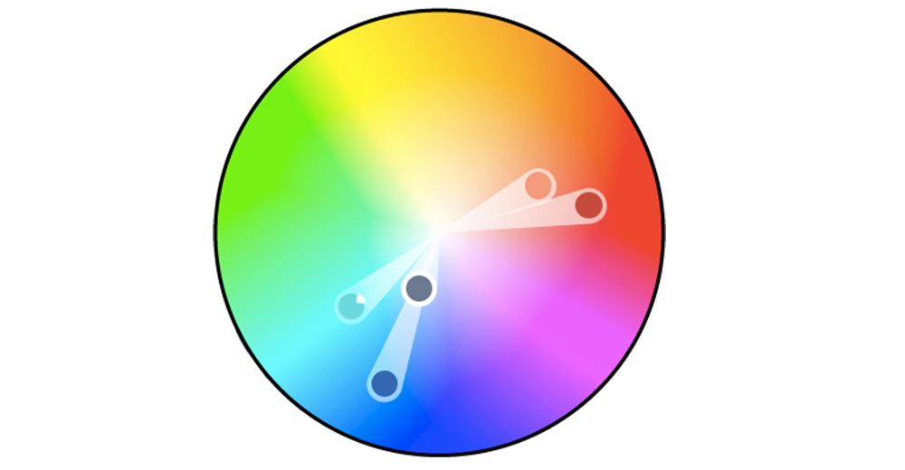 Bölünmüş bir tamamlayıcı renk düzeni oluşturun.