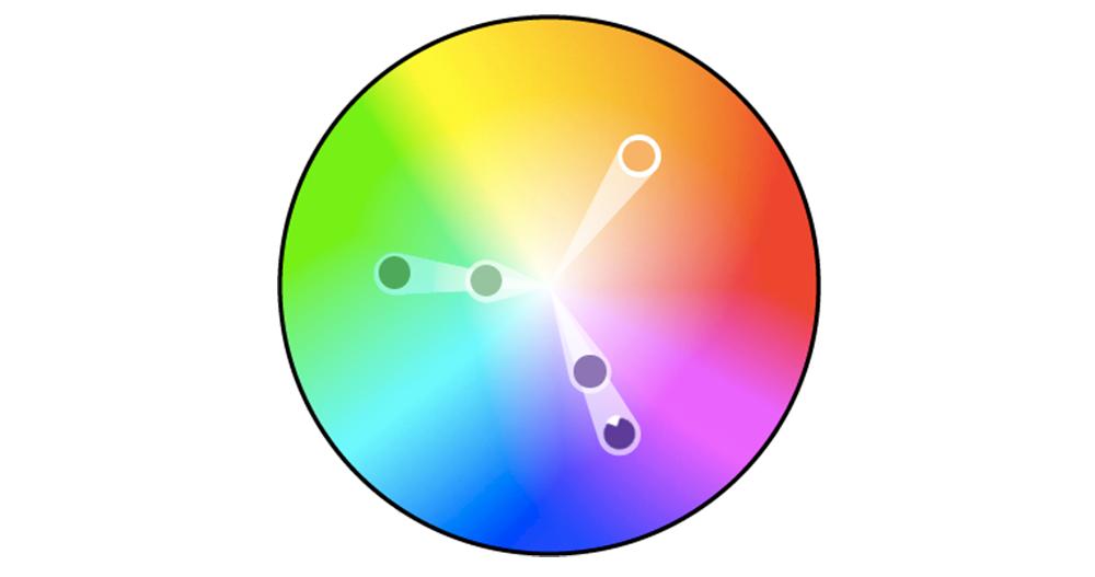 Yüksek kontrast oluşturmak için triadik renk şeması kullanın.