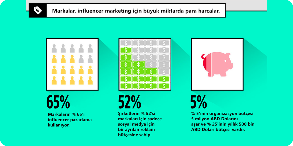 Sosyal Medya Pazarlama Nedir? Adım Adım Kılavuz : Instagramda Influencer Pazarlama harcamaları