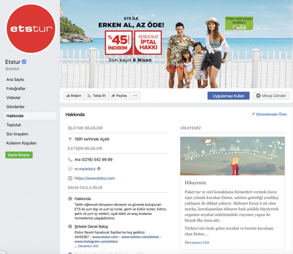 ets tur facebook beğenisi