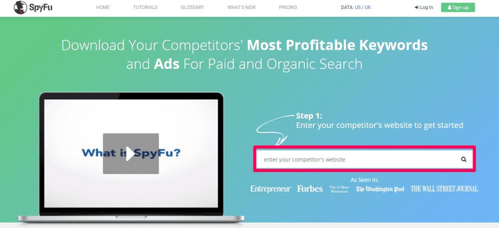 spyfu google ads rekabet araştırması