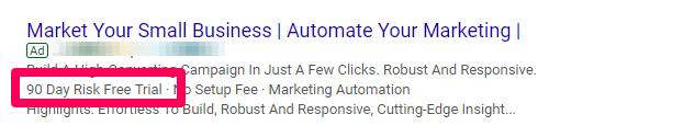 google ads ücretli arama reklamının değer teklifi