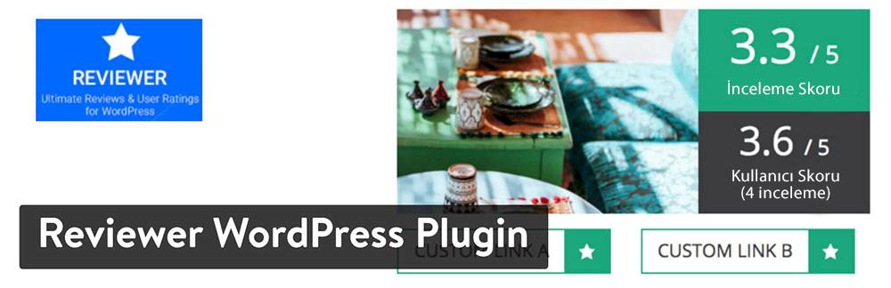 WordPress Yorum Eklentisi - Reviewer WordPress Plugin