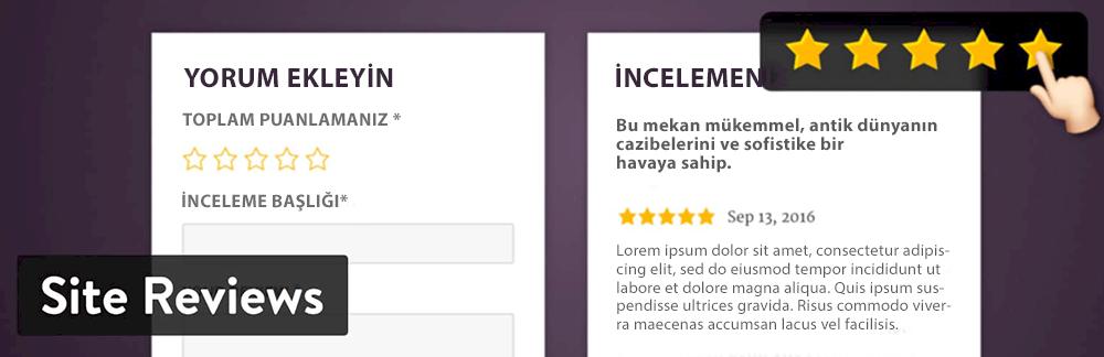 WordPress Yorum Eklentisi - Site Reviews