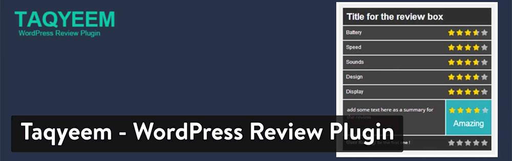 WordPress Yorum Eklentisi - Taqyeem